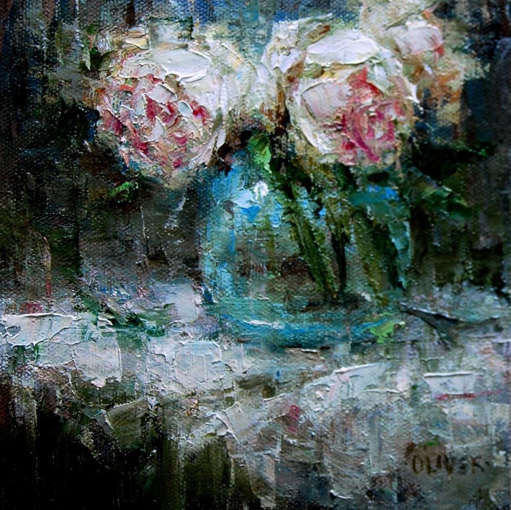 """Peony Trio"" original fine art by Julie Ford Oliver"