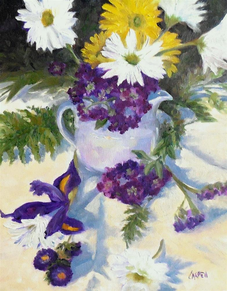 """Purple Time, 8x10 Oil on Canvas Panel, Floral Painting"" original fine art by Carmen Beecher"