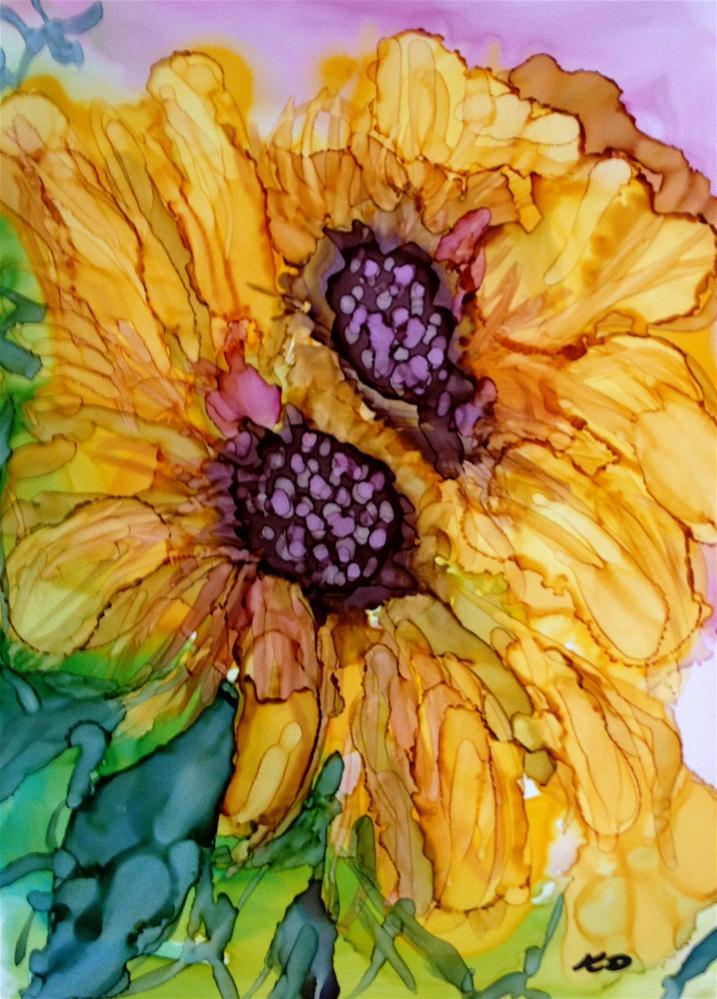 """""""Sunflower Pair"""" original fine art by Kristen Dukat"""