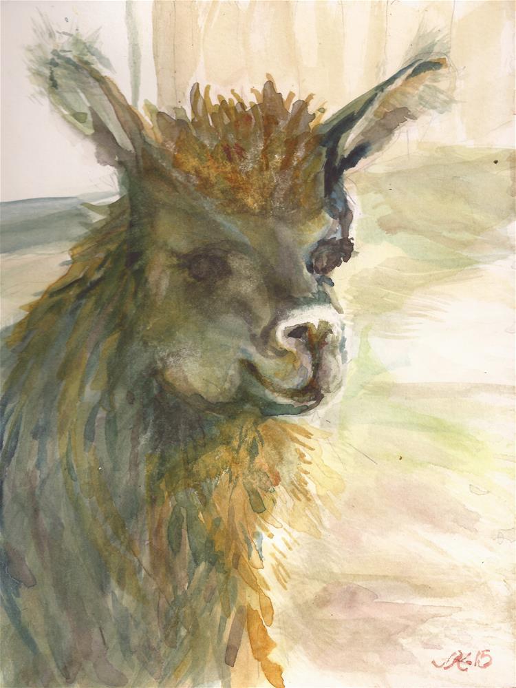 """Llama"" original fine art by jean krueger"