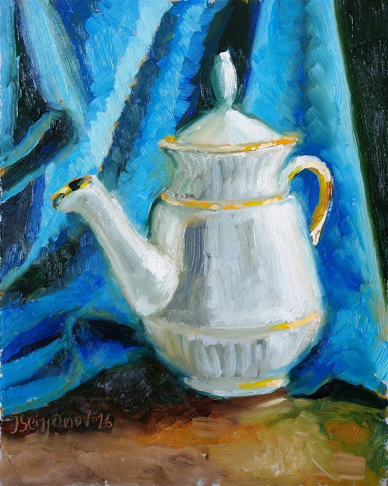 """teapot"" original fine art by Yuriy Semyonov"