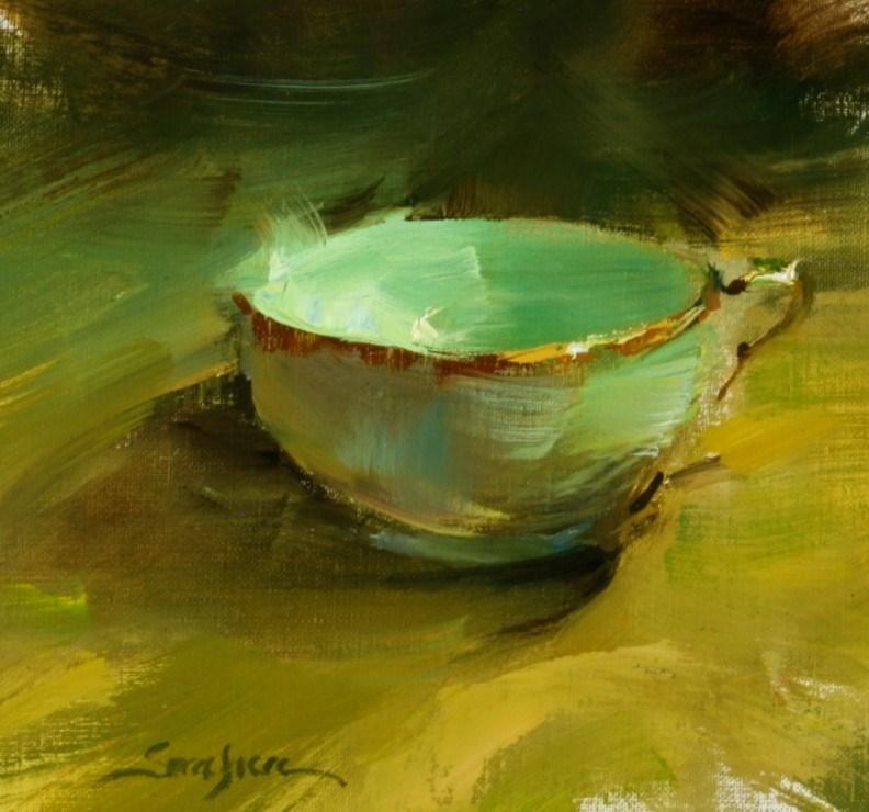 """Lighted Tea Cup"" original fine art by Scott Serafica"