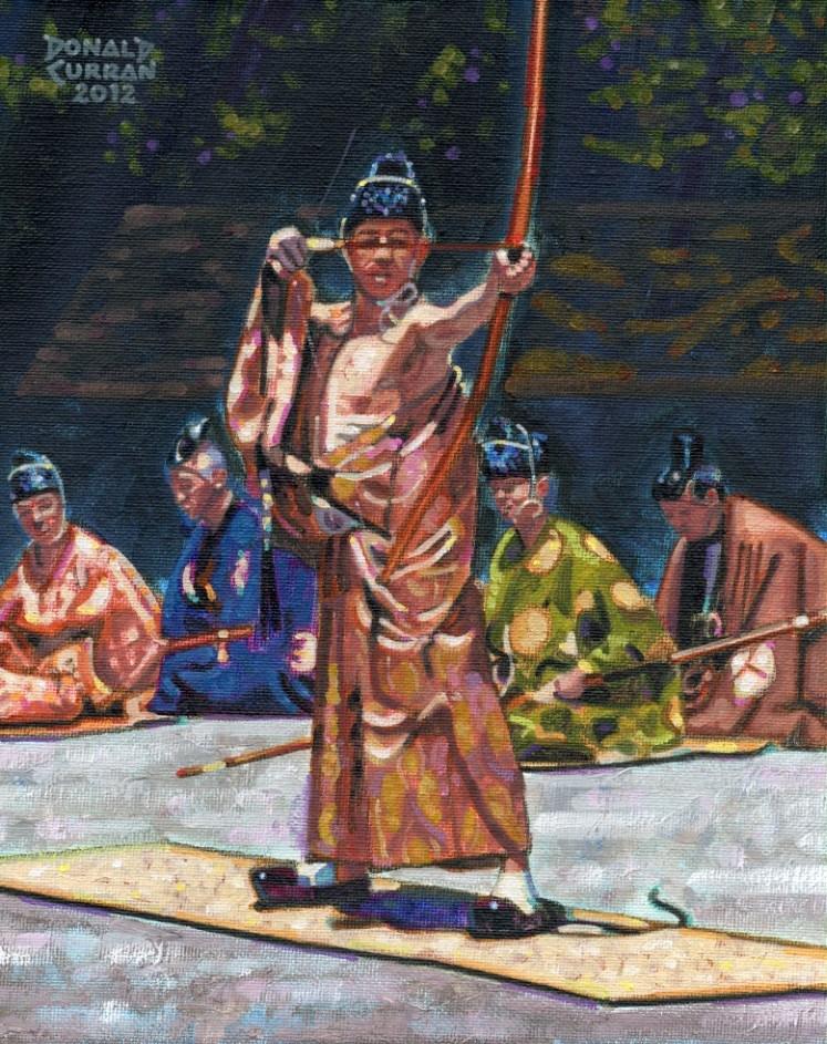 """Japanese Archer"" original fine art by Donald Curran"