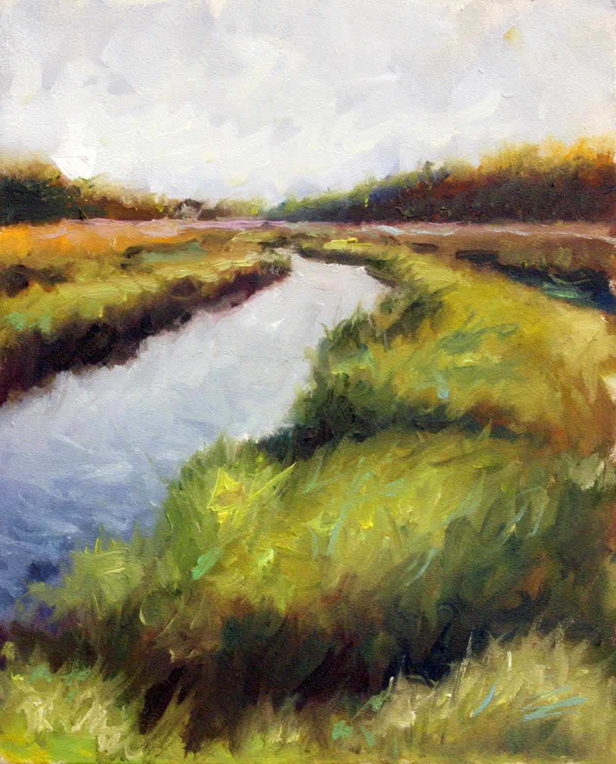 """Summer Marsh"" original fine art by Clair Hartmann"