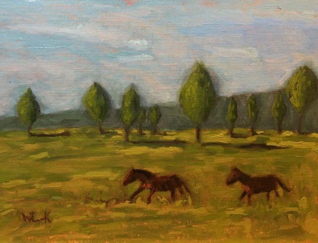 """Mowdy Ranch"" original fine art by William Cook"
