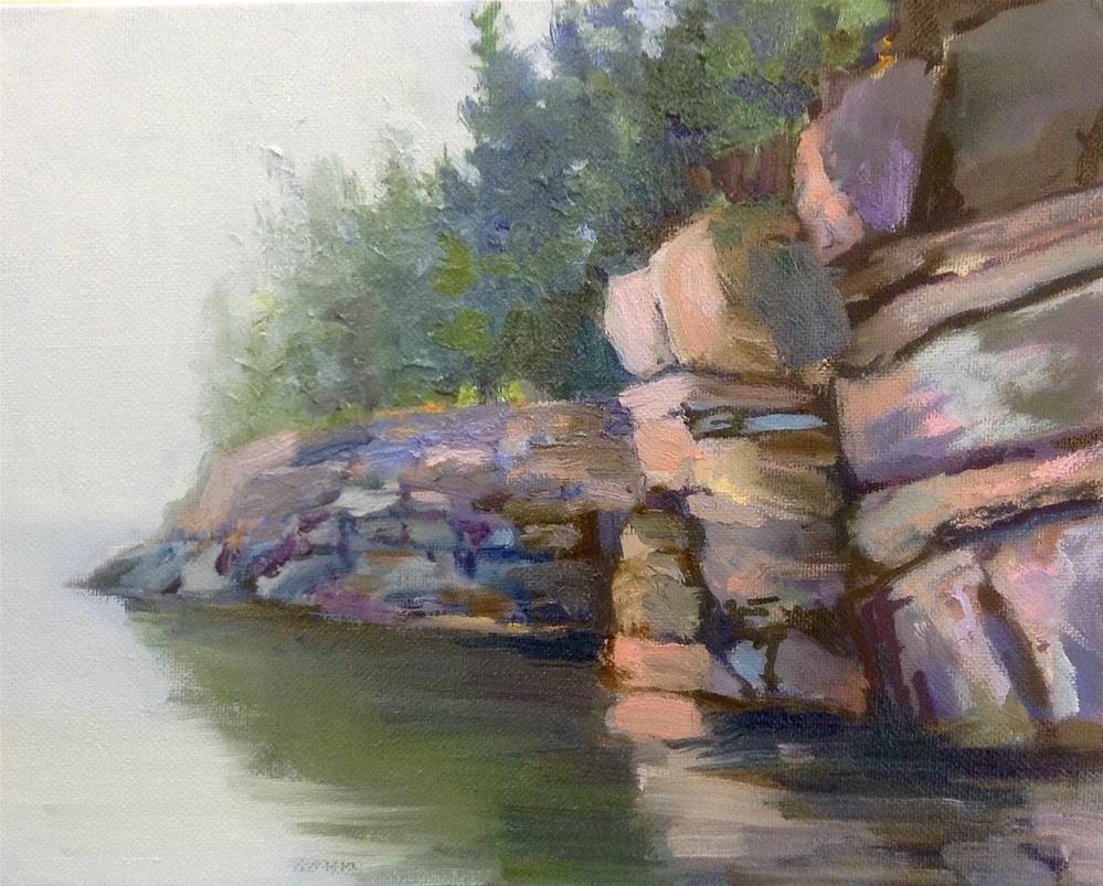 """Rounding the Rocks"" original fine art by Cathy Boyd"
