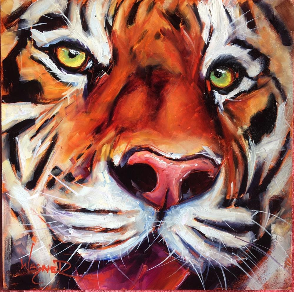 """Tigrio"" original fine art by Olga Wagner"