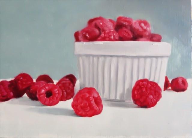 """Raspberries"" original fine art by James Coates"