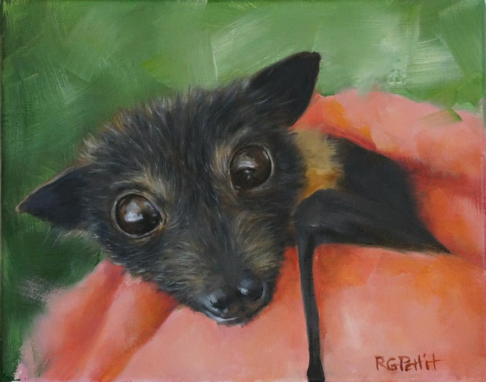 """Baby Bat"" original fine art by Rhea  Groepper Pettit"