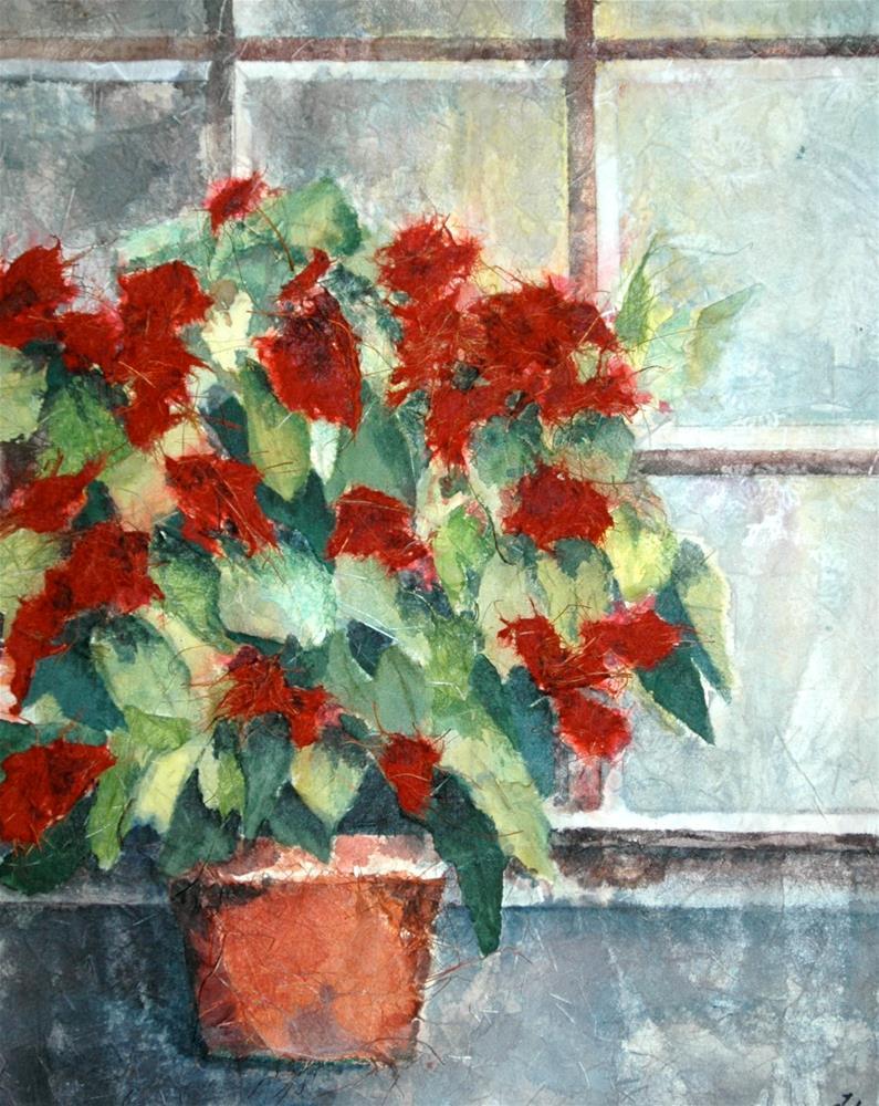 """Windowsill at St. Cirq"" original fine art by Diane Fujimoto"