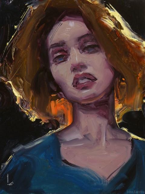 """Writhe"" original fine art by John Larriva"