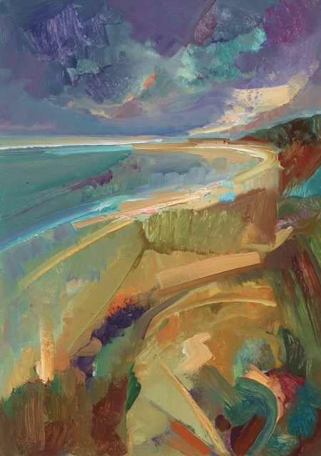 """Many Colours of the Coast"" original fine art by Anne Wood"