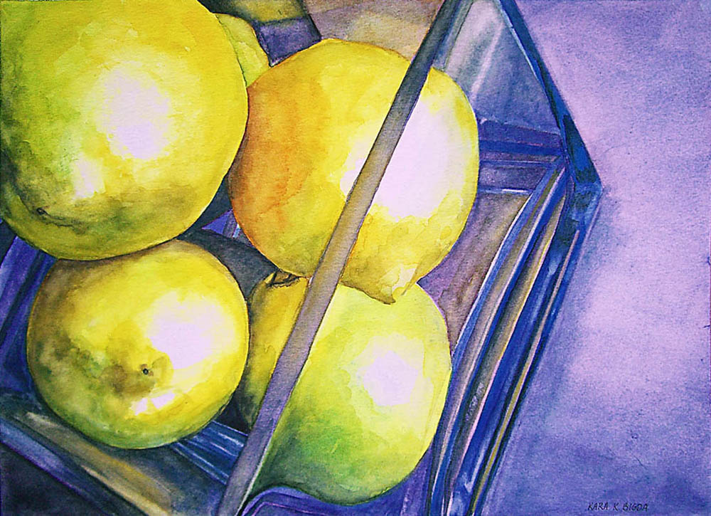 """Easter Lemons"" original fine art by Kara K. Bigda"