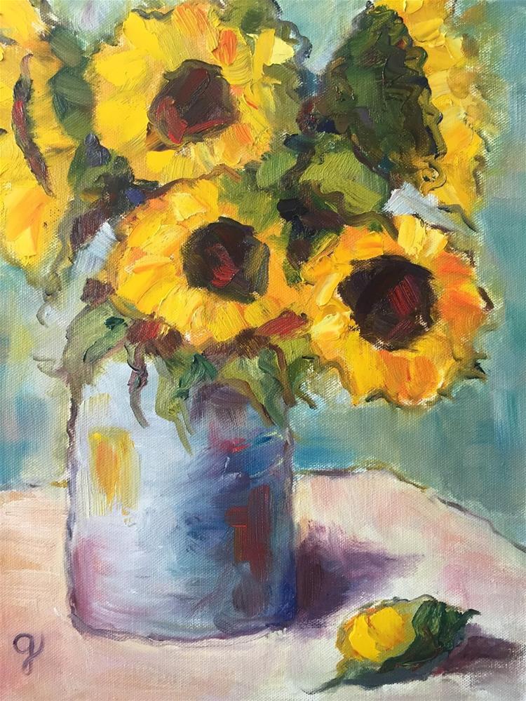 """""""Friday Flowers"""" original fine art by Gayle Lambeth"""