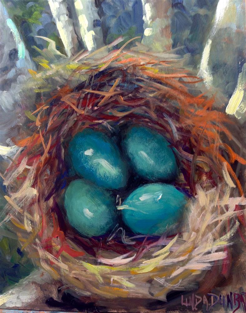 """""""First it was an Egg Nest"""" original fine art by Linda Dunbar"""