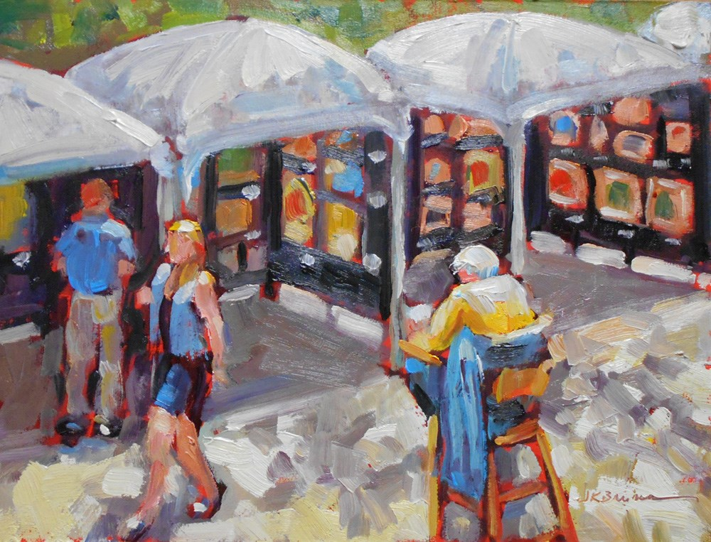 """Rittenhouse Square Art Show"" original fine art by Jeanne Bruneau"