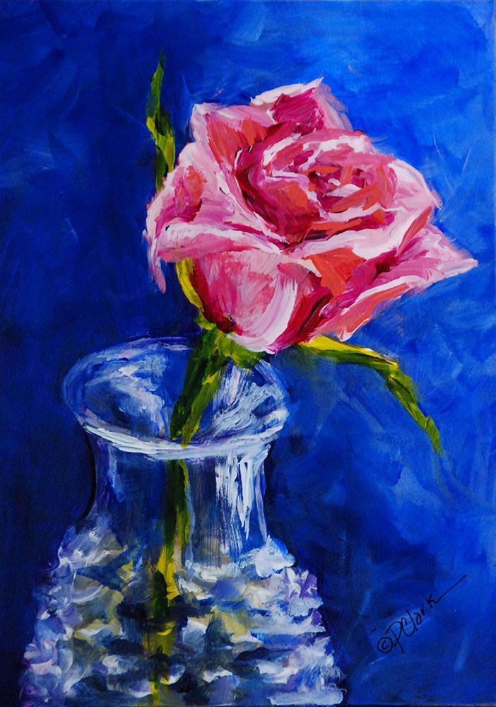 """Last Rose"" original fine art by Donna Pierce-Clark"