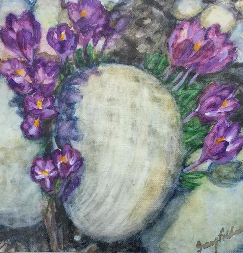 """Crown of Crocuses"" original fine art by Tracy Feldman"