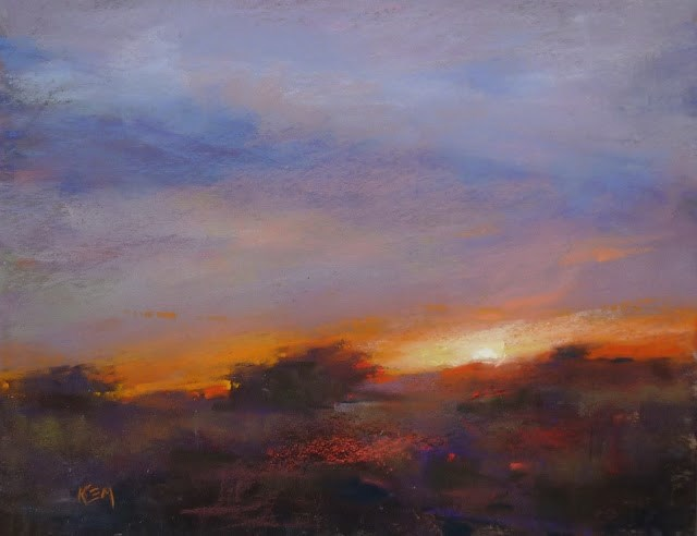"""When Photos Lie...Painting More Authentic Sunsets"" original fine art by Karen Margulis"