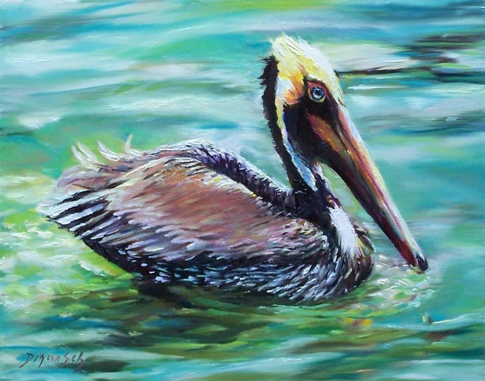 """""""Pelican"""" original fine art by Donna Munsch"""