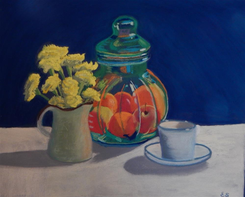 """Still Life with my Favorite Jar"" original fine art by Elaine Shortall"