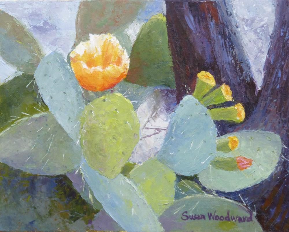 """Prickly Pear"" original fine art by Susan Woodward"