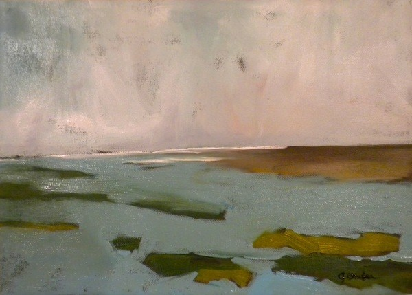"""Sun Peeking Through"" original fine art by Janet Bludau"