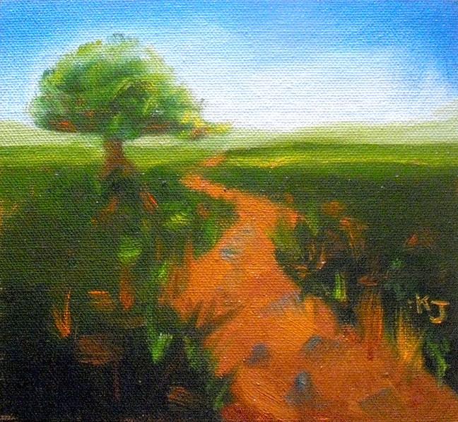 """""""#19 Lone Oak, Summertime"""" original fine art by Kathy Johnson"""