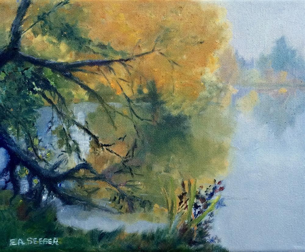 """Foggy Morning at Green Lake"" original fine art by Elisabeth Seeger"