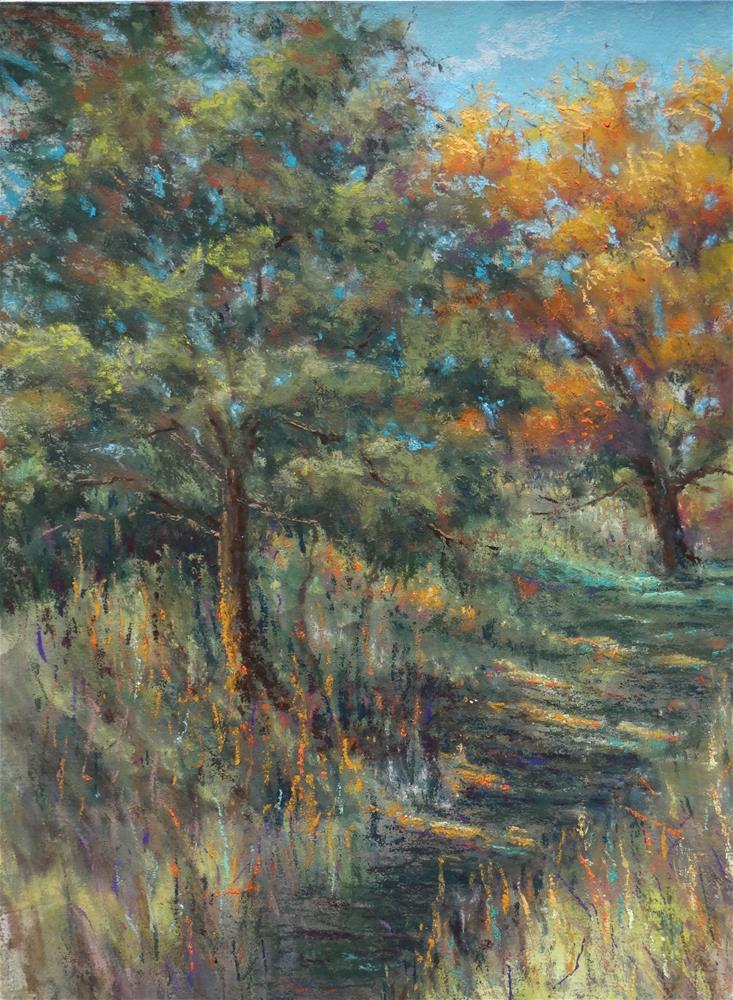 """Fall Shadows"" original fine art by Denise Beard"