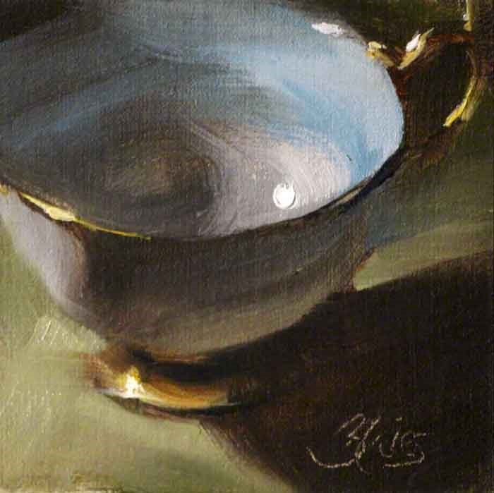 """Teacup Collection III"" original fine art by Pamela Blaies"