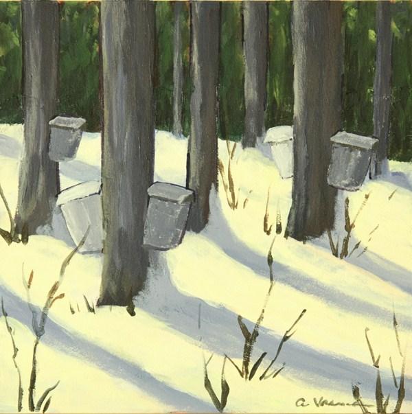 """""""Sap Buckets"""" original fine art by Anna Vreman"""