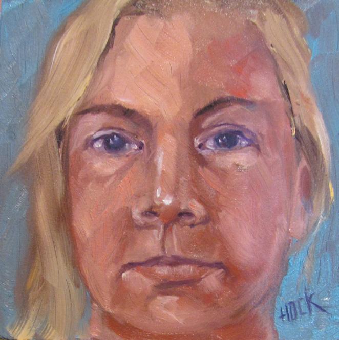 "Kelley ""MacGrins"" MacDonald original fine art by Maria Bennett Hock"