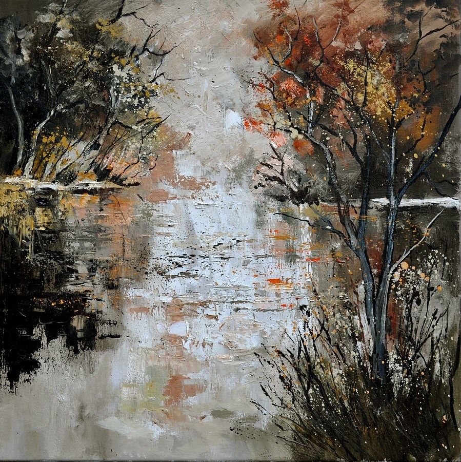 """pond 885110"" original fine art by Pol Ledent"
