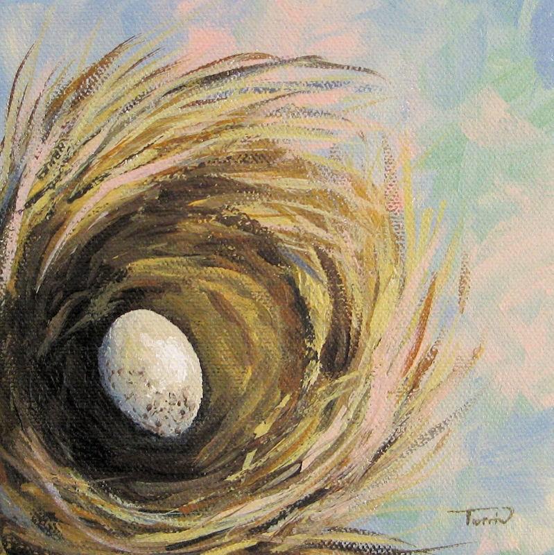 """The Speckled Egg"" original fine art by Torrie Smiley"