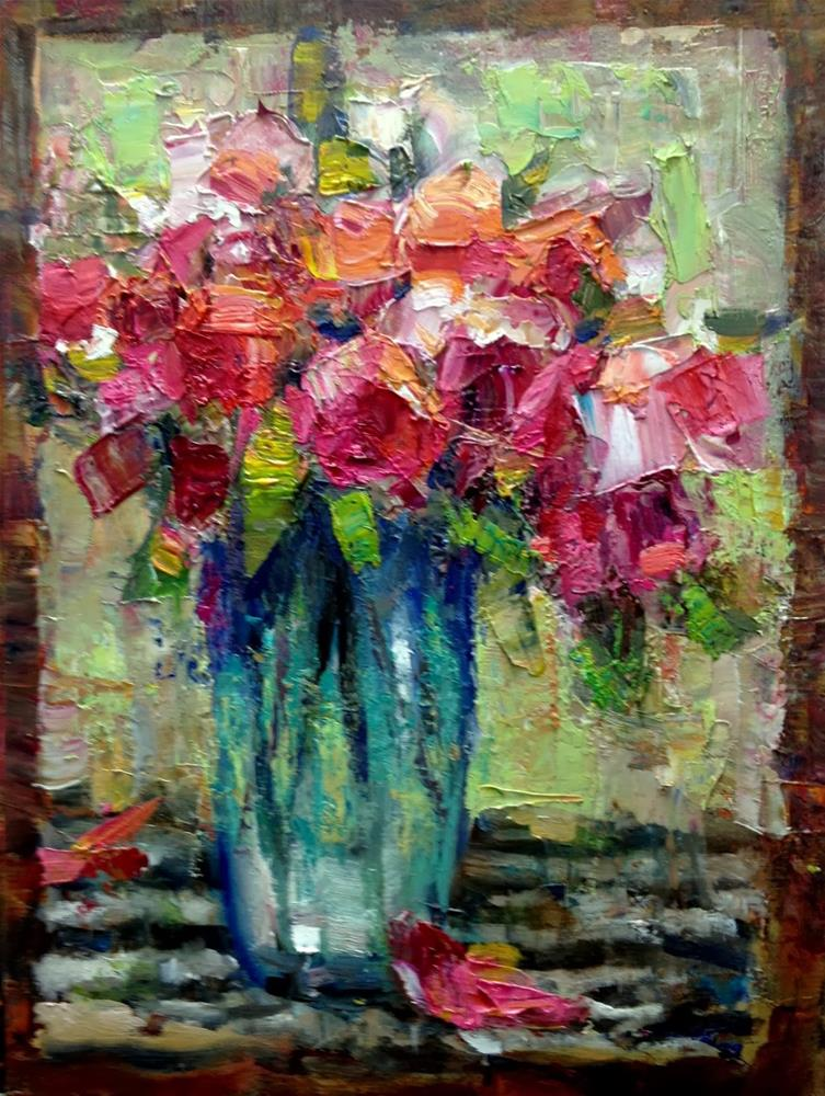 """Flowers and Seeing Their Shapes"" original fine art by Julie Ford Oliver"