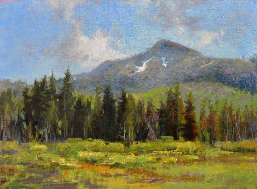 """Mt. Majestic"" original fine art by Susan N Jarvis"