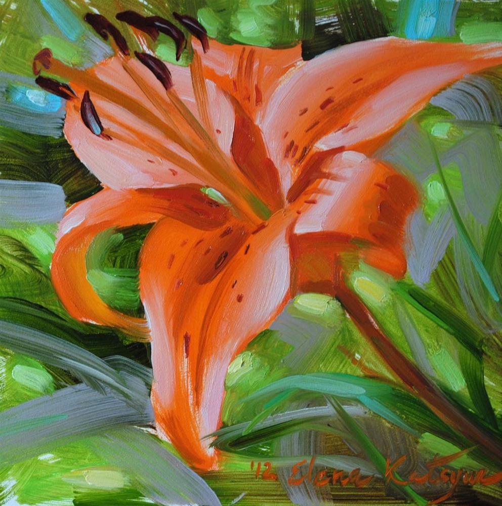 """Garden Lily"" original fine art by Elena Katsyura"