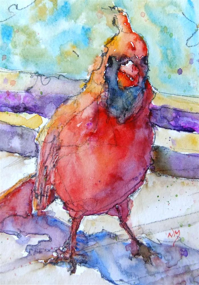 """caught red handed"" original fine art by Nora MacPhail"