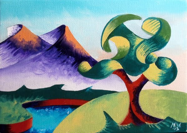 """Mark Webster - Abstract Landscape Oil Painting 2.6.13"" original fine art by Mark Webster"