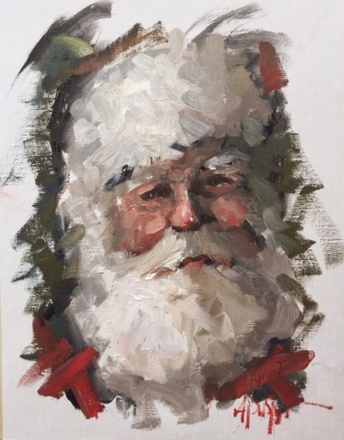 """Santa Claus 203"" original fine art by Anne Marie Propst"