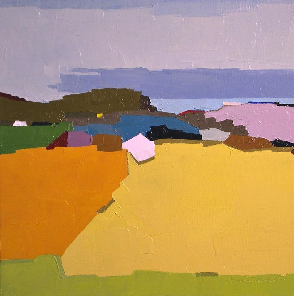 """Glimpse of the Sea"" original fine art by Donna Walker"