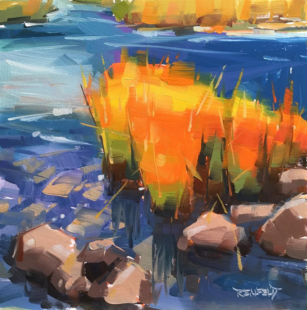 """Colorful Weeds"" original fine art by Cathleen Rehfeld"