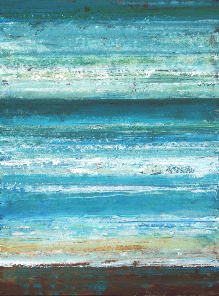 """""""Waves Upon the Sea"""" original fine art by Sage Mountain"""