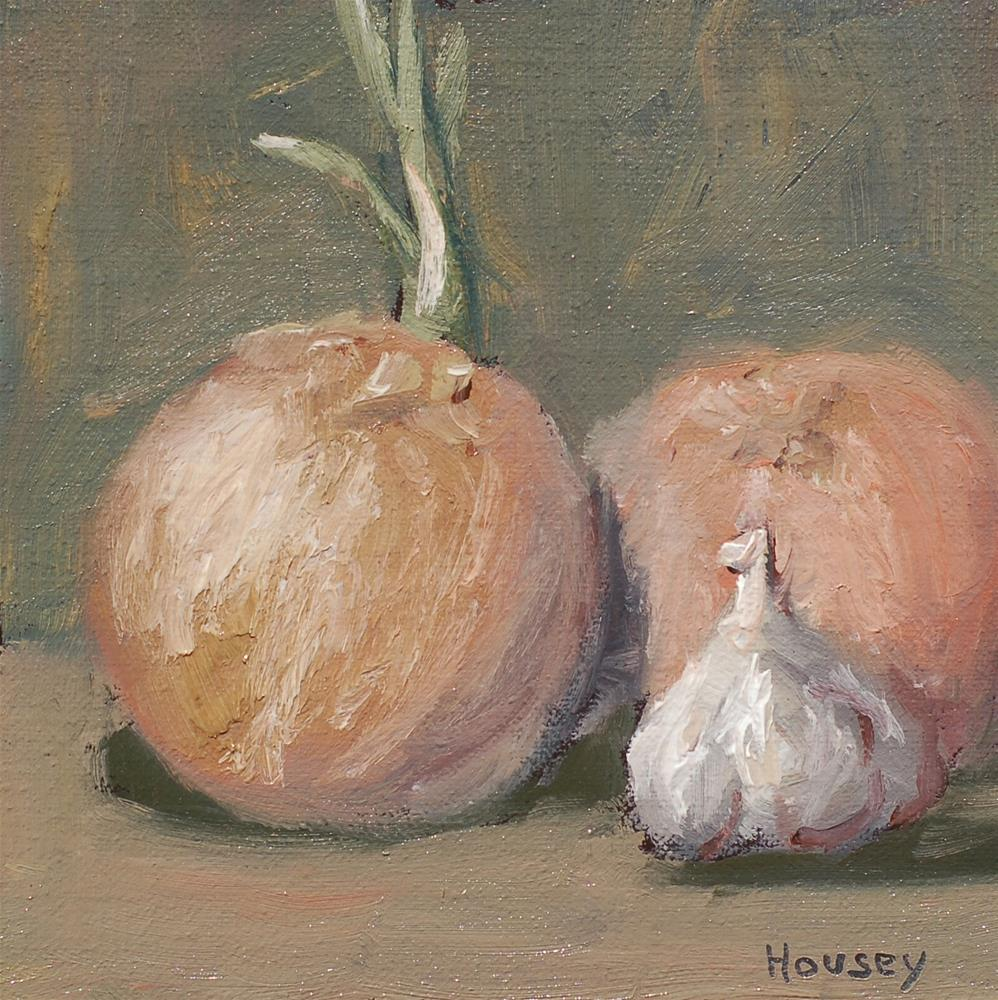 """Onions and Garlic"" original fine art by Bruce Housey"