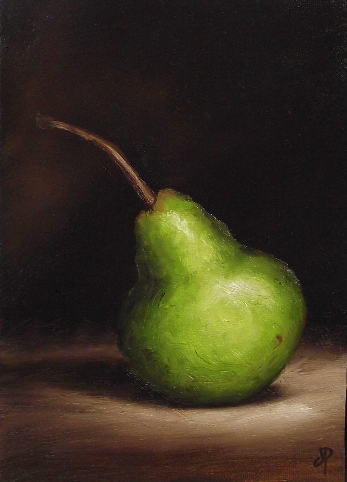 """Packham Pear"" original fine art by Jane Palmer"