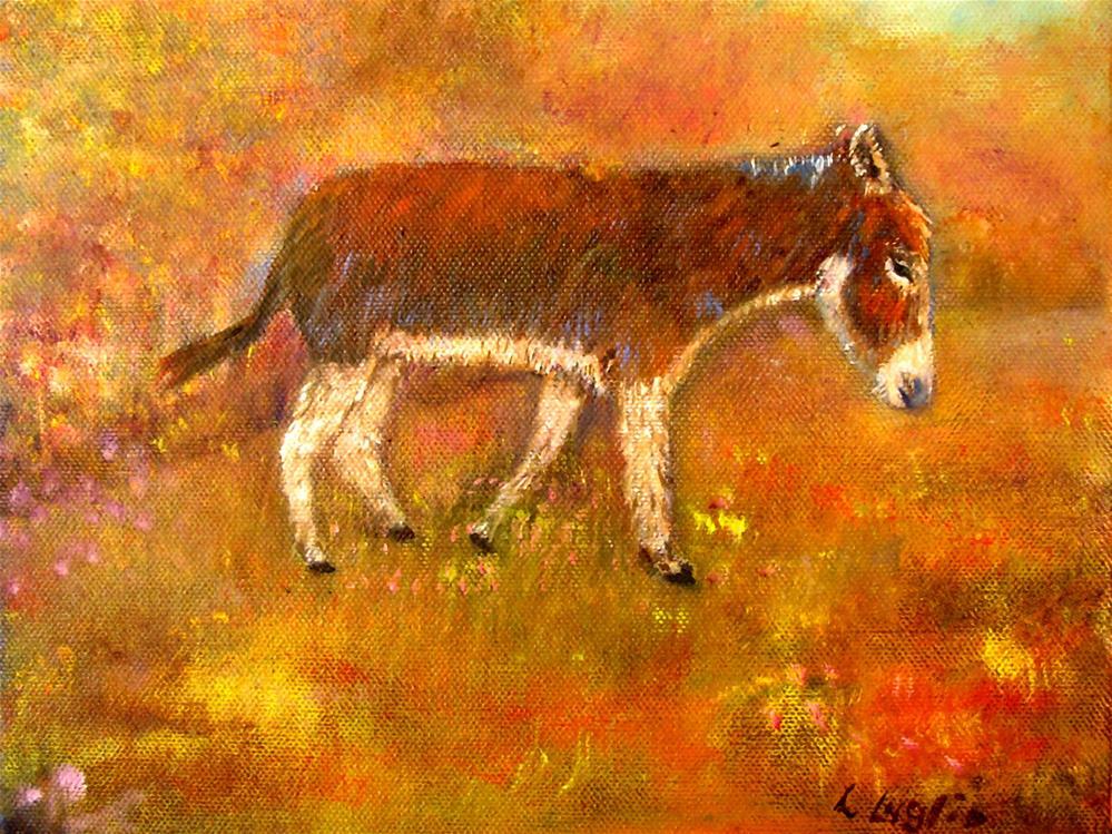"""Jubilee the Donkey"" original fine art by Loretta Luglio"