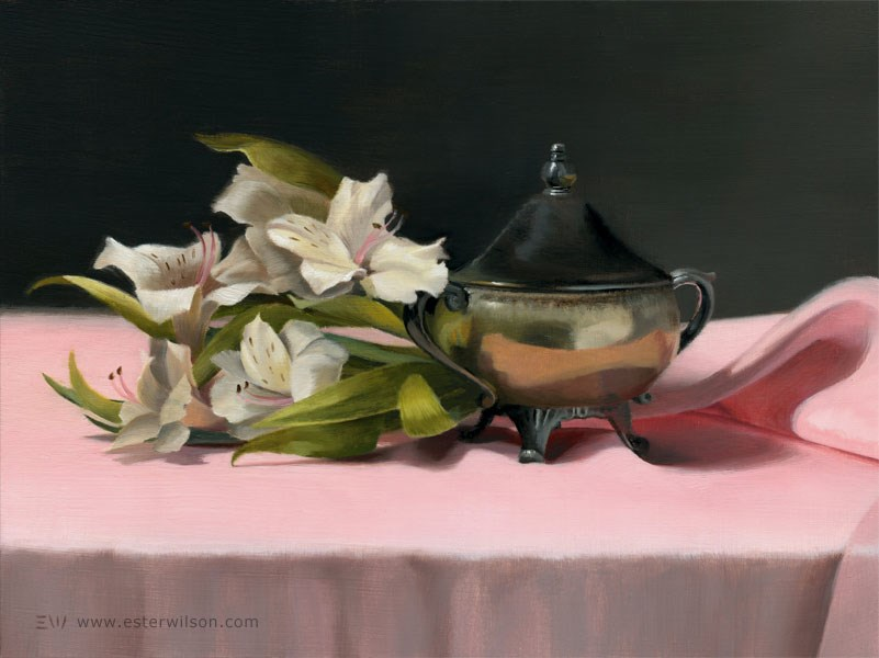 """Flowers and Sugar"" original fine art by Ester Wilson"