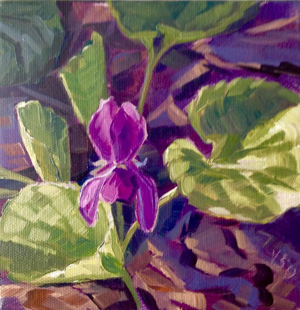 """Small Wonder (Violet) II"" original fine art by Valerie Orlemann"