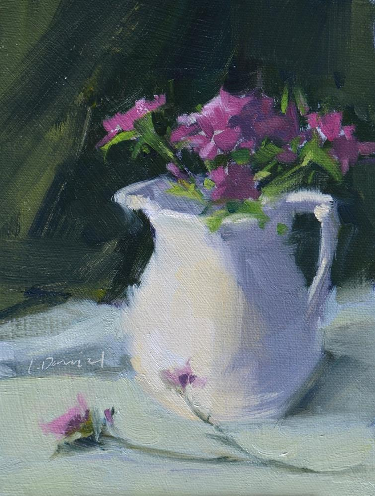"""Pitcher And Posies - Twenty-seven of 30 in 30"" original fine art by Laurel Daniel"